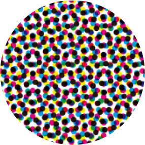 ▲ AM 175線 ロゼットパターンが見える